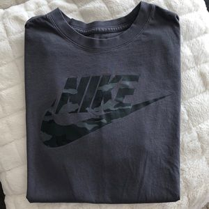 Nike men's Grey and Camo T Shirt